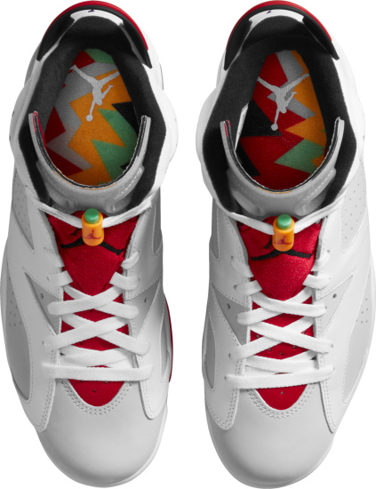 Jordan 6 Retro White Grey And Red Sneakers
