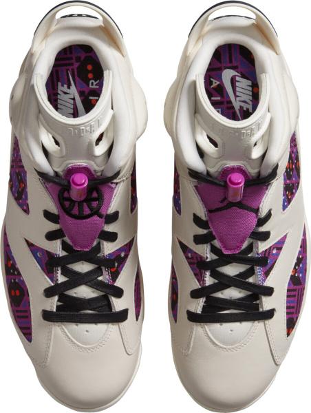 Jordan 6 Retro White Purple Sneakers