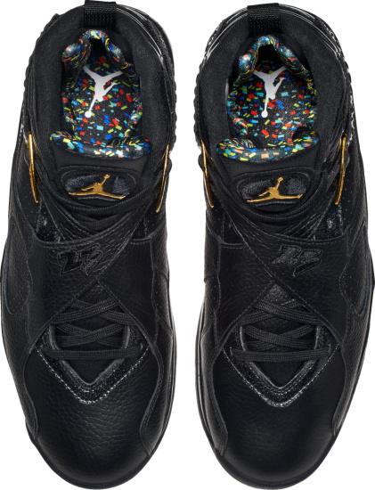 Jordan 8 Reto Black And Neon Splatter