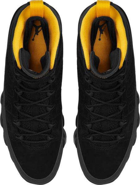 Jordan 9 Retro Black Dark Grey And Yellow Gold