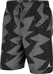 Jordan Black Grey Geometric Poolside Shorts
