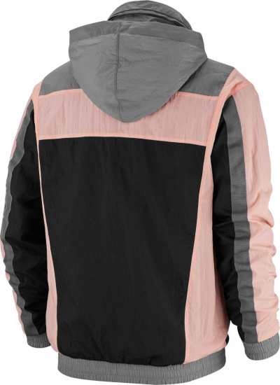 Jordan Grey Black And Pink Anorak Jacket