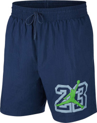 Jordan Navy Legacy 13 Swim Shorts Cw0785 414