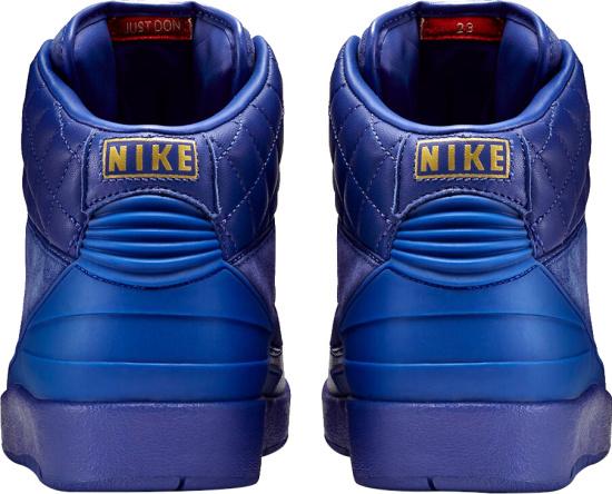 Jordan X Just Blue All Blue Sneakers