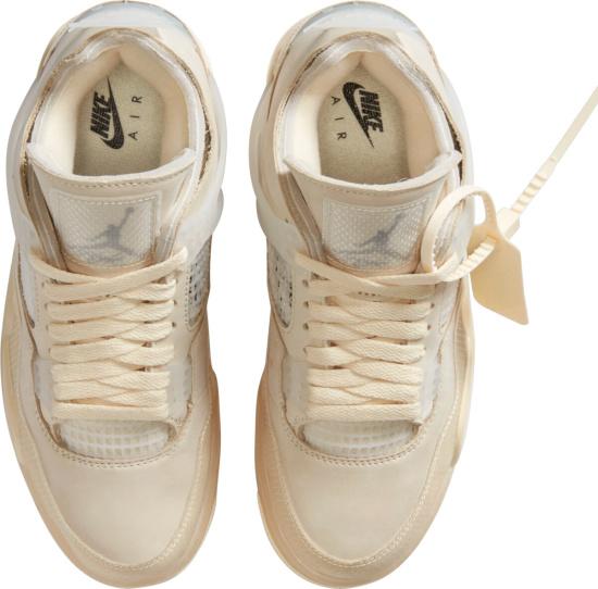 Jordan X Off Whtie Beige Sneakers