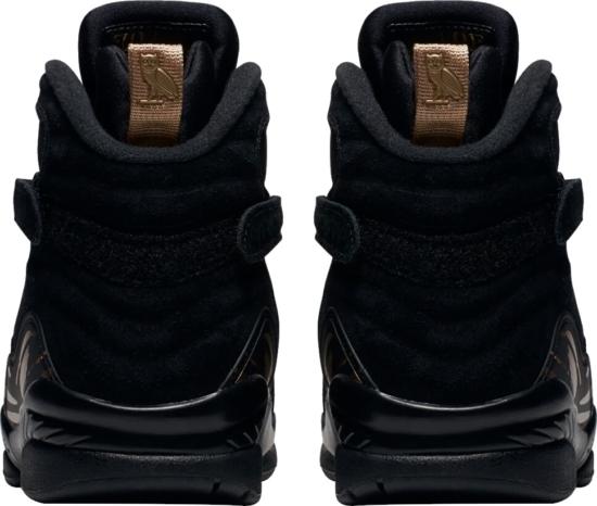 Jordan X Ovo Black 8 Sneakers