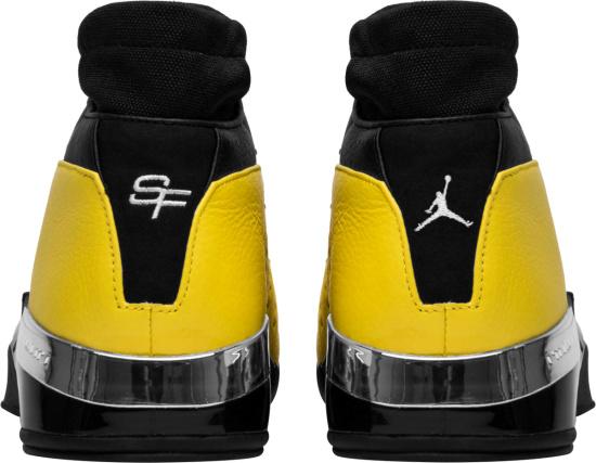 Jordan X Solefly Yellow And Black Sock Sneakers