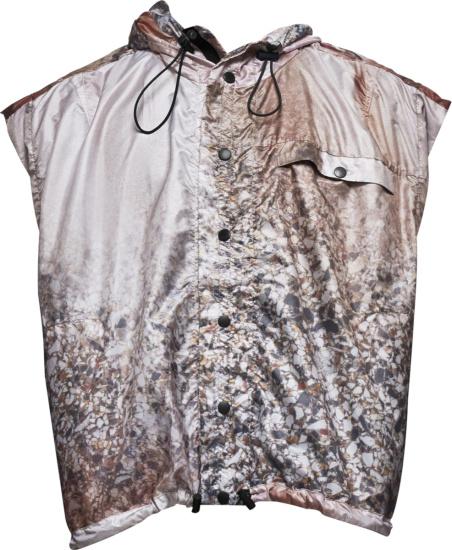Jordanluca Beige Multicolor Vince Hooded Vest
