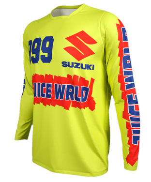 Juice Wrld Yellowish Green Suzuki Racing Jersey
