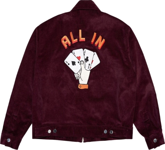 Just Don All In Burgundy Jacket