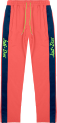 Just Don Pink And Blue Side Stripe Trackpants