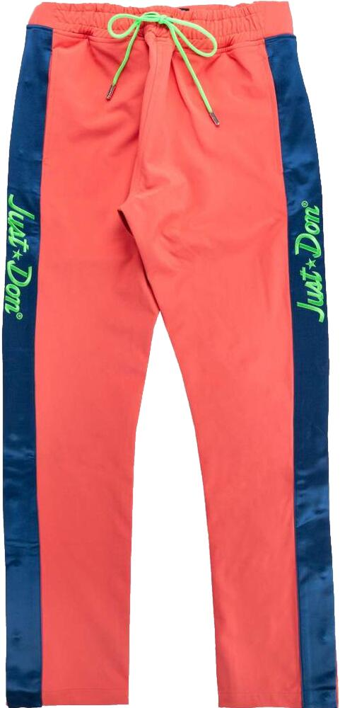 Just Don Pink Tear Away Pants With Blue Side Stripe