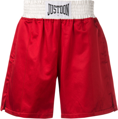 Just Don Red Satin Boxing Shorts