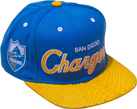 Just Don San Diego Chargers Python Brim Snapback