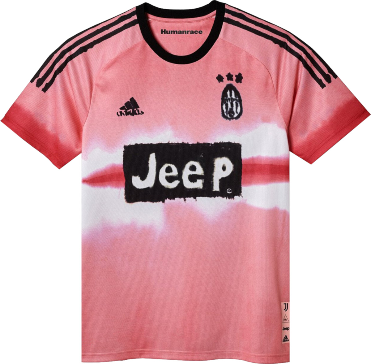 Adidas Juventus Pink 'Human Race' Jersey   Incorporated Style