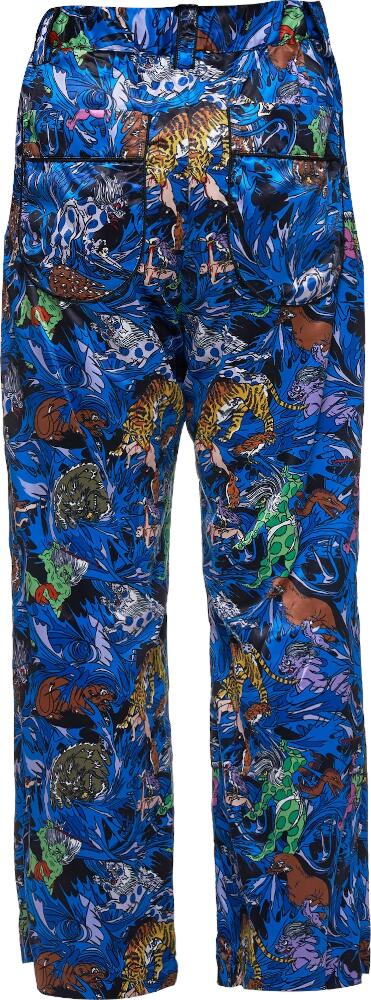 Kadill Blue Printed Pants