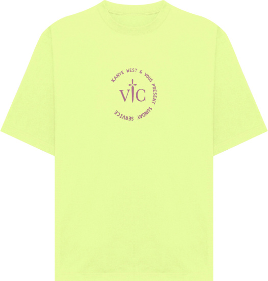 Kanye West Sunday Service X Vous Present Pale Yellow Sunday Service T Shirt