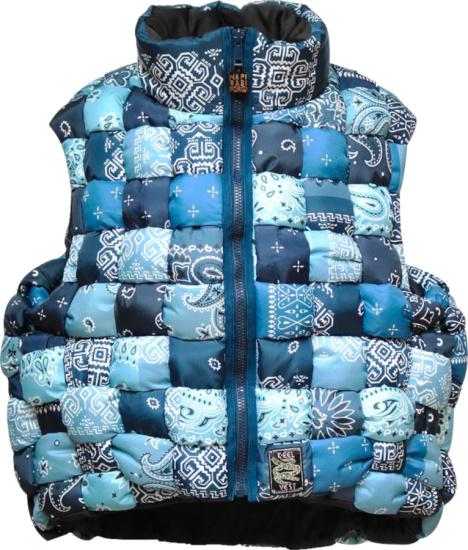 Kapital Blue Bandana Weaving Vest