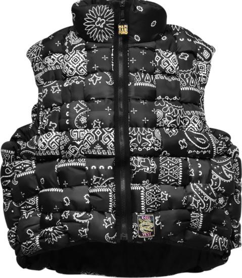 Kapital Black Bandana Keel Woven Vest