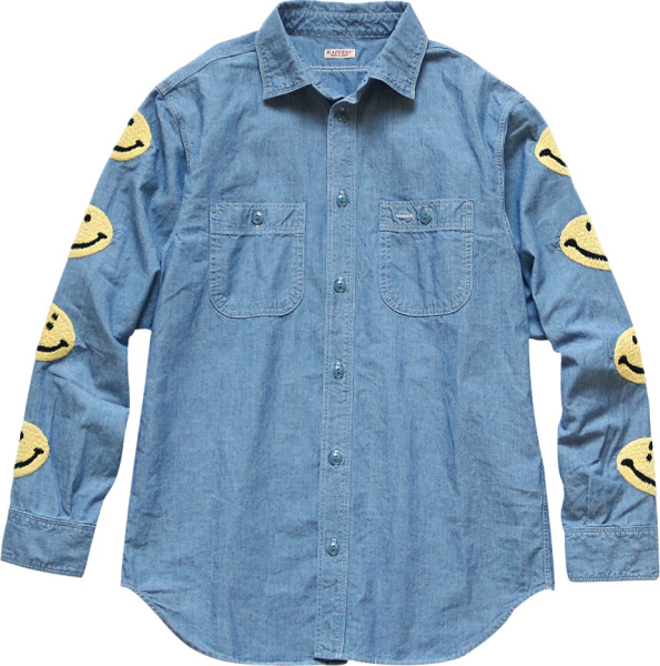 Kapital Denim Smiley Face Shirt