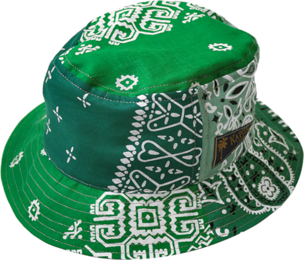 Kapital Green Bandana Patchwork Bucket Hat