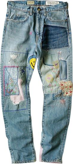 Kapital Kountry Blue Patchwork Gypsy Jeans