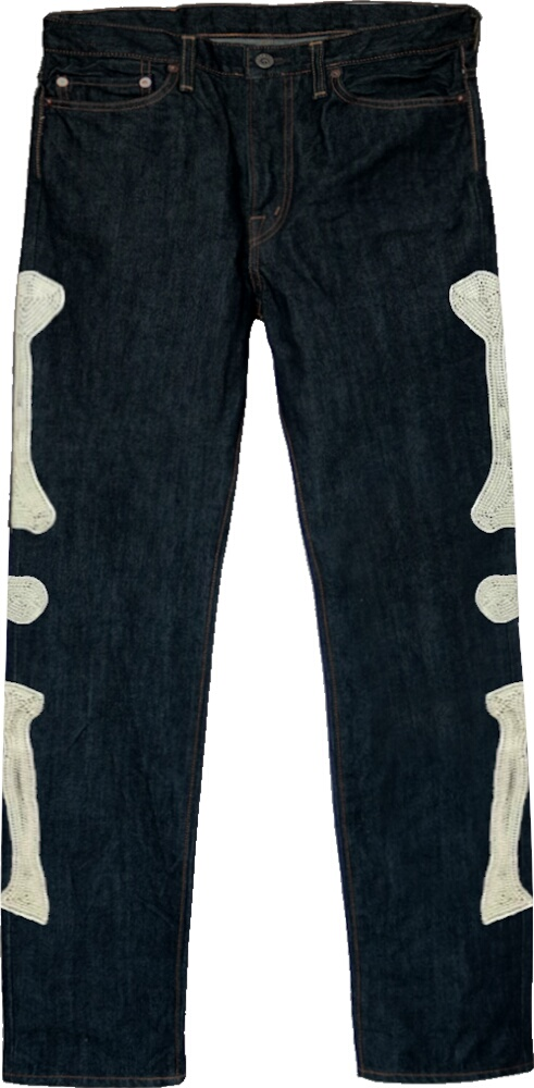 Kapital Kountry Skeleton Blue Jeans
