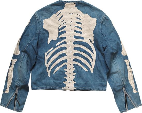 Kapital Light Indigo Denim Bone Crosby Jacket