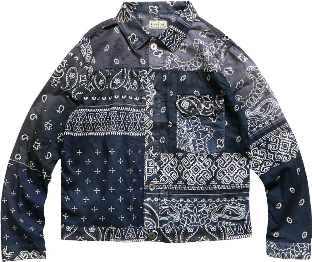 Blue Bandana Patchwork Jacket