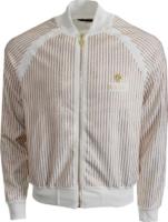 Gold Sequin Pinstripe Track Jacket
