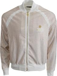 Kash Gold Sequin Stripe Track Jacket