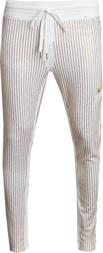 Kash Gold Sequin Stripe Track Pants