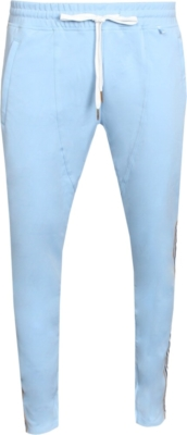 Kash Light Blue Side Stripe Joggers