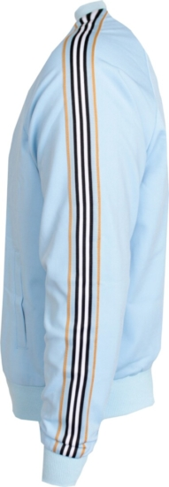 Kash Light Blue Side Stripe Track Jacket