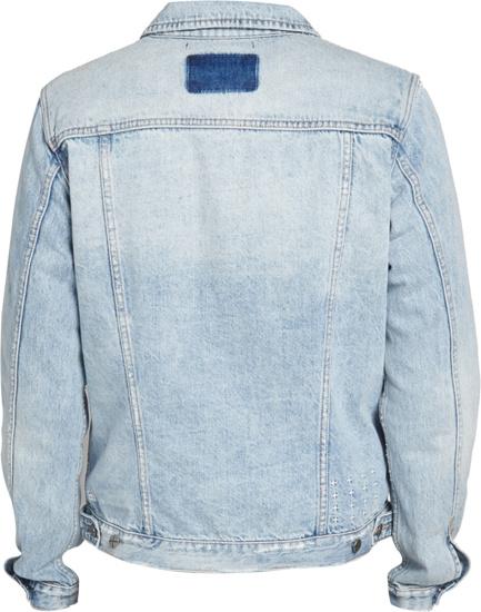 Kasubi Contrast Patch Acid Wash Denim Jacket