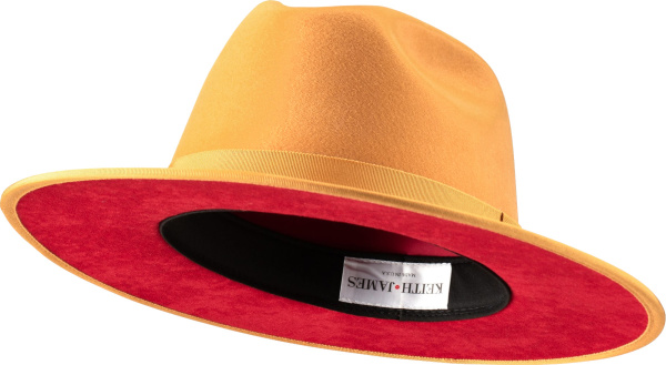 Keith And James Canary Yellow Wool Queen Fedora Hat
