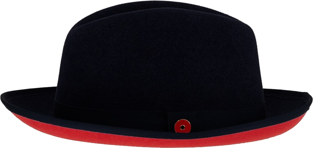 Keith And James Black Wool Fedora Hat