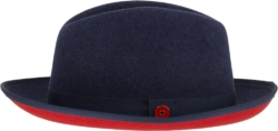 Keith And James Navy Wool Fedora Hat