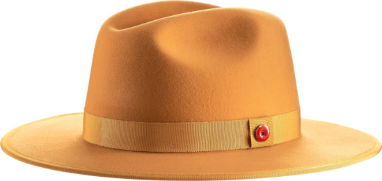 Keith And James Yellow Queen Wide Brim Fedora