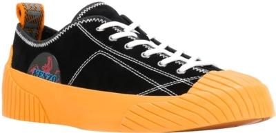 Kenzo Volkano Black And Orange Sneakers