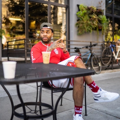 Kevin Gates Wearing A Moncler Hat With Chicago Bulls Shorts Pums Sneakers And Im Him Merch