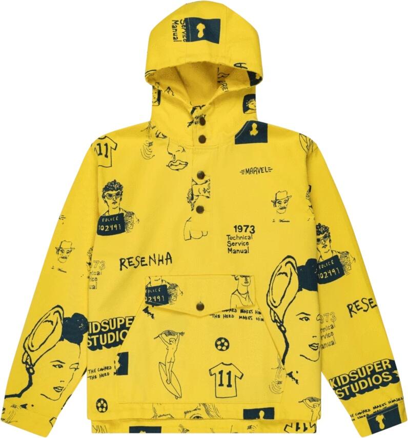 Yellow Anorak Jacket
