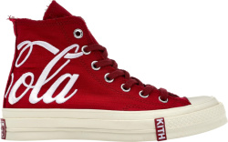 Kith X Converse X Coca Cola Red High Top Canvas Sneakers