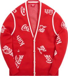 Kith X Mitchell Ness X Coca Cola Red Cardigan