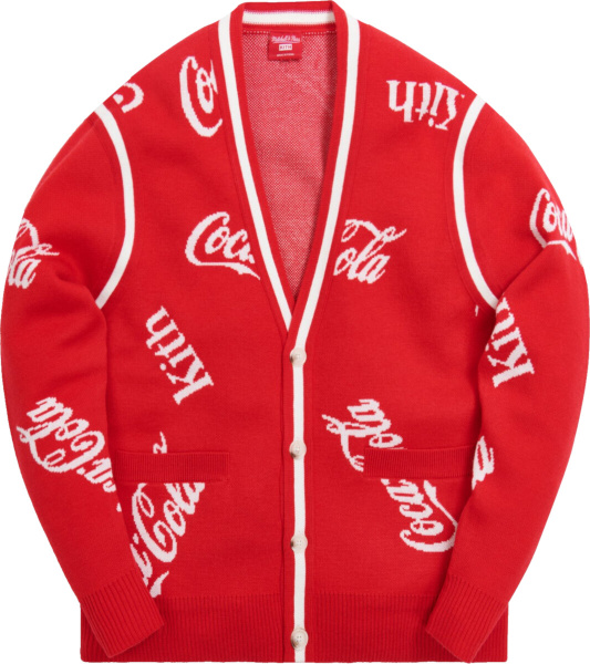 Kith X Mitchell Ness X Coca Cola Red Cardigan