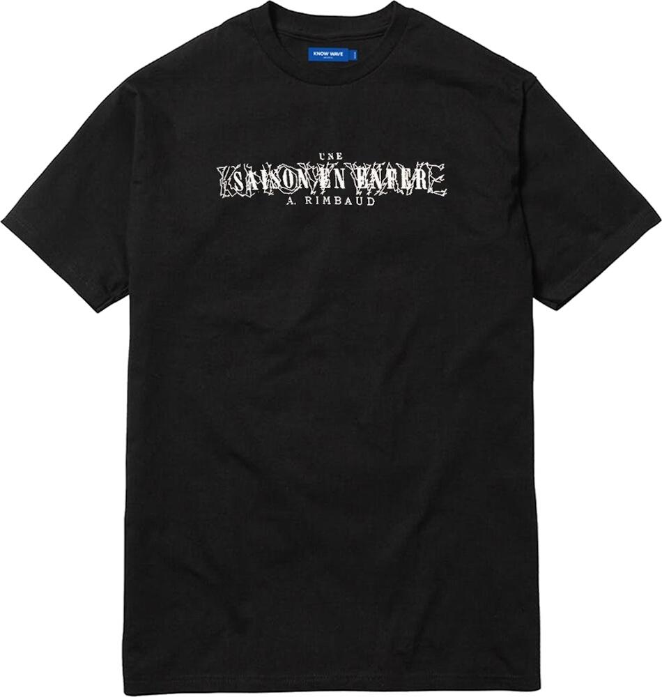 'Une Saison en Enfer' Rimbaud Print Black T-Shirt