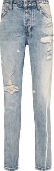 Ksubi Chitch Light Blue Bleached Jeans