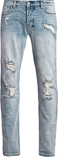 Ksubi Light Blue Thrasher Dreams Skinny Jeans