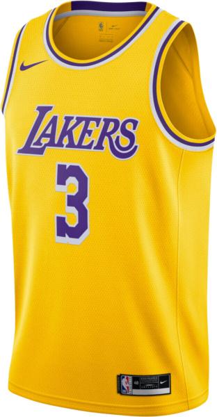 La Lakers 3 Anthony Davis Gold Jersey