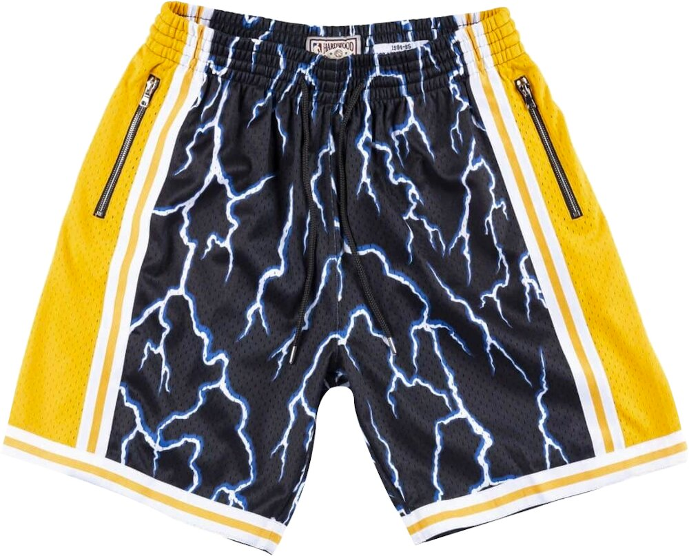 La Lakers Lightning Print Shorts